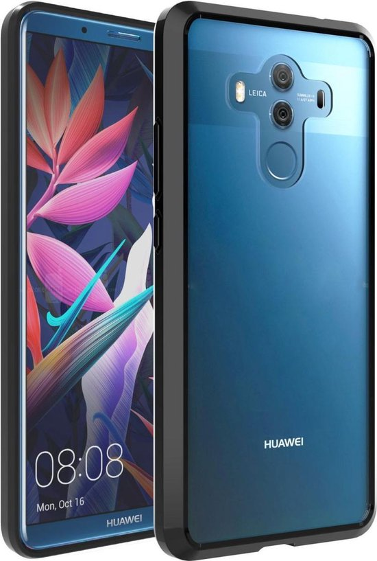 Huawei Mate 10 Pro Hoesje Armor Backcover Transparant Zwart