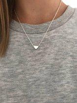 Joboly Hart heart love liefde musthave ketting - Dames - Zilverkleurig - 45 cm