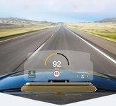 Universele mobiele GPS-navigatiebeugel HUD Head Up Display Car Mobiele telefoon Mount Stand (met 3M Adhesive Fixed Version), voor iPhone, Samsung, LG, Nokia, HTC, Xiaomi, Sony, Huawei en andere smartphones (goud)
