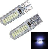 2 STKS T10 3 W 16 SMD-4014 LEDs Auto Klaring Lichten Lamp, DC 12 V (Wit Licht)