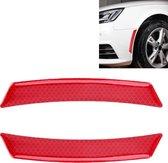 2 STKS Auto-Styling Wiel Wenkbrauw Decoratieve Sticker Decoratieve Strip (Rood)