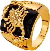 Lucardi Gold Plated Ring - Schorpioen - Maat 66