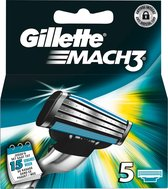 Gillette Mach3 - 5 stuks - Scheermesjes