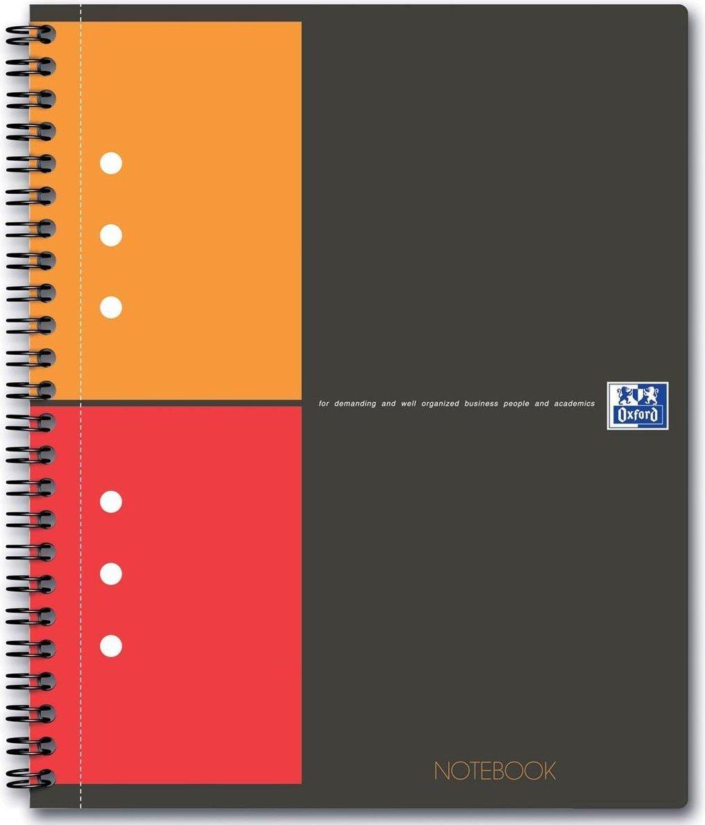 Oxford INTERNATIONAL Notebook Connect zonder scanbare pagina's 160 bladzijden formaat A5+ geruit 5 mm
