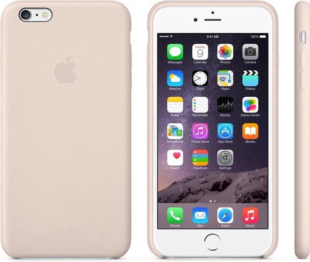 Apple Leren Hoesje voor iPhone 6 Plus / iPhone 6S Plus - Roze / Soft Pink