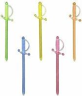 30x Prikkers gekleurde zwaarden