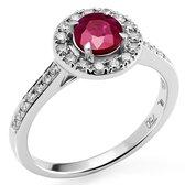 Orphelia RD-3916/RU/52 - Ring - Goud 18 kt - Diamant 0.29 ct / Robijn 0.73 ct - 16.50 mm / maat 52