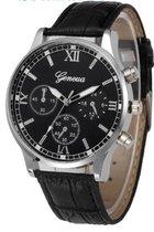 Hidzo Horloge Geekthink ø 37 mm - Zwart - Inclusief horlogedoosje