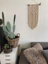 Macrame muur opknoping , home décor, bukuri wand decoratie - 057 beige