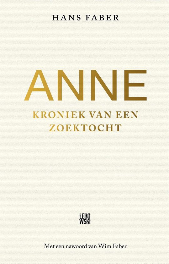 Boek cover Anne van Hans Faber (Onbekend)