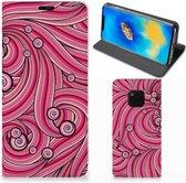 Bookcase Huawei Mate 20 Pro Swirl Pink