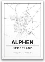 Poster/plattegrond ALPHEN - 30x40cm