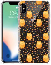 Apple iPhone X Hoesje Cute Owls