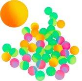 relaxdays stuiterballen 50 stuks - stuiterbal voor kinderen - 27 mm - meerkleurig