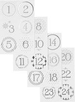 Creativ Company 28458 sticker Folie Zilver, Wit 24 stuk(s)