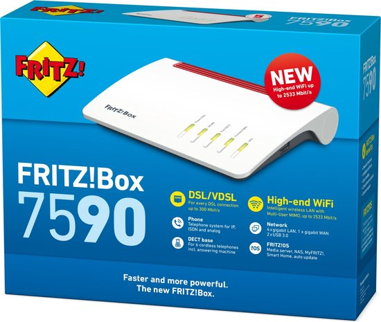 FRITZ!Box 7590 - Router - 2600 Mbps
