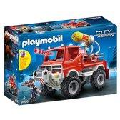 PLAYMOBIL City Action Brandweer terreinwagen met waterkanon - 9466