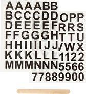 Rub-on Sticker . zwart. letters en cijfers. H: 17 mm. 12.2x15.3 cm. 1 doos