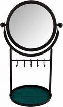 Dulaire Make Up Spiegel Zwart Metaal - incl. haakjes