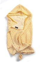 KipKep Blenker badcape met mutsje - maat M (100x70cm) - Indian Wig - Yellow