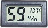 Professionele hygrometer- Zwart - Meet ook temperatuur - Voor buiten en binnen - 2 in 1 - Hygrometer