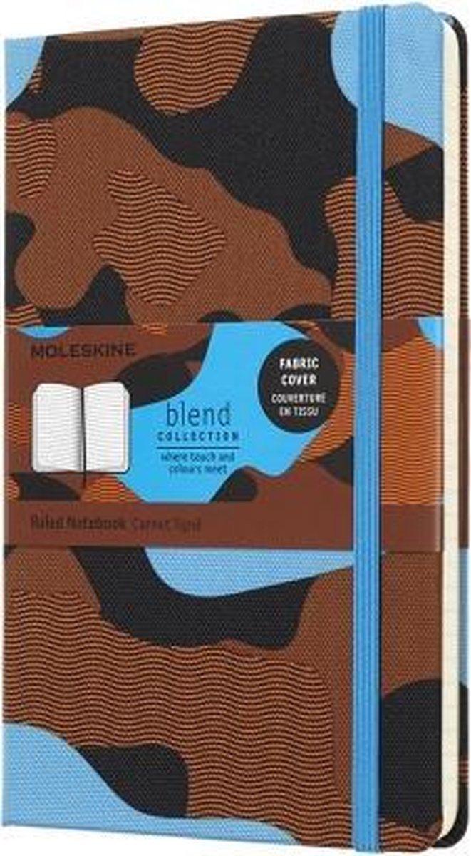 Limited Edition Moleskine Notitieboek Large - Camouflage Blauw - Hard cover - Lijnen