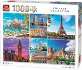 Afbeelding van King Puzzel 1000 Stukjes - Steden Collage