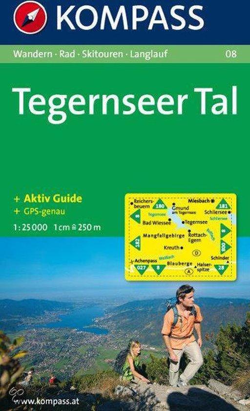 Cover van het boek '08: Tegernseer Tal 1:25.000'