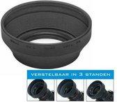 52mm Universele Zonnekap / Lenshood (Rubber)  / UwCamera Huismerk