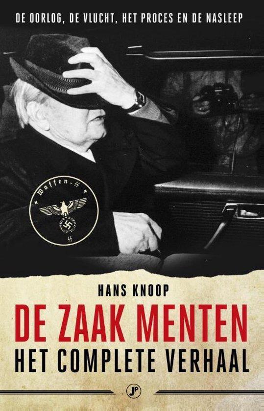 Boek cover De zaak Menten, het complete verhaal van Hans Knoop