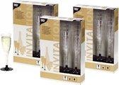 Plastic champagne glazen 60 stuks - herbruikbaar