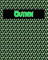 120 Page Handwriting Practice Book with Green Alien Cover Quinn