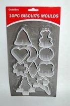 OudeBos uitsteekvormpjes - kerst vormen - 10 stuks