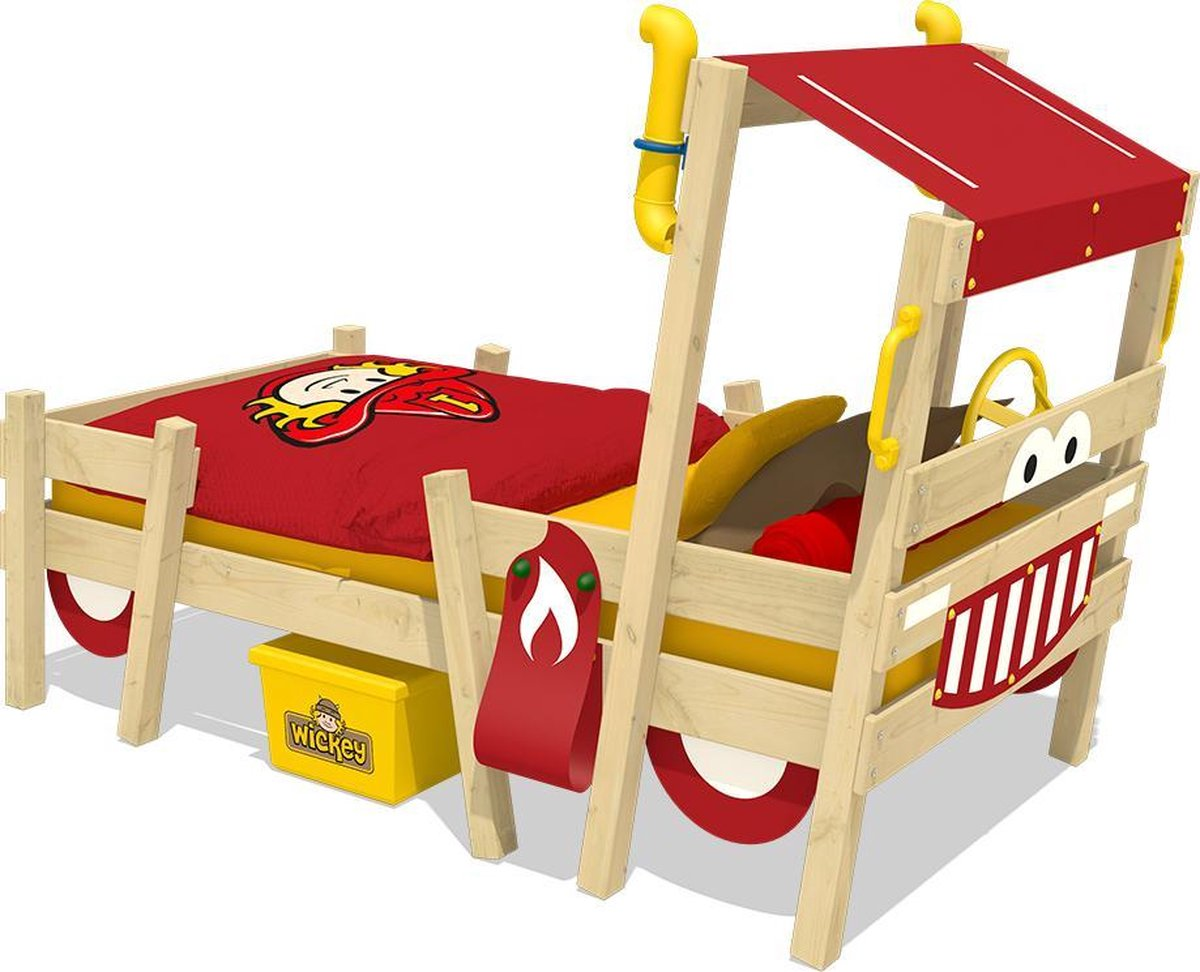 Kinderbed WICKEY CrAzY Sparky Pro Speelbed Rood - Wickey