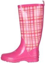 Playshoes Regenlaarzen Geruit Rubber Dames Roze Maat 38