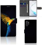 Samsung Galaxy Note 10 Plus Telefoonhoesje met Pasjes Papegaai