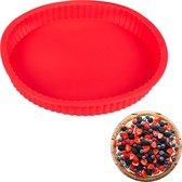 relaxdays bakvorm taartbodem - siliconen - flexibel - taartvorm - 25 cm - rond