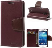 Goospery Sonata Leather case hoesje Samsung Galaxy S4 VE Black edition I9515 Bruin