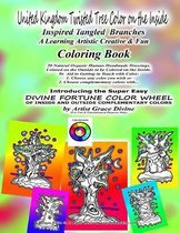 UNITED KINGDOM Twisted Tree Color on the Inside Inspired Tangled Branches A Learning Artistic Creative & Fun Coloring Book 20 Natural Organic Human Handmade Drawings