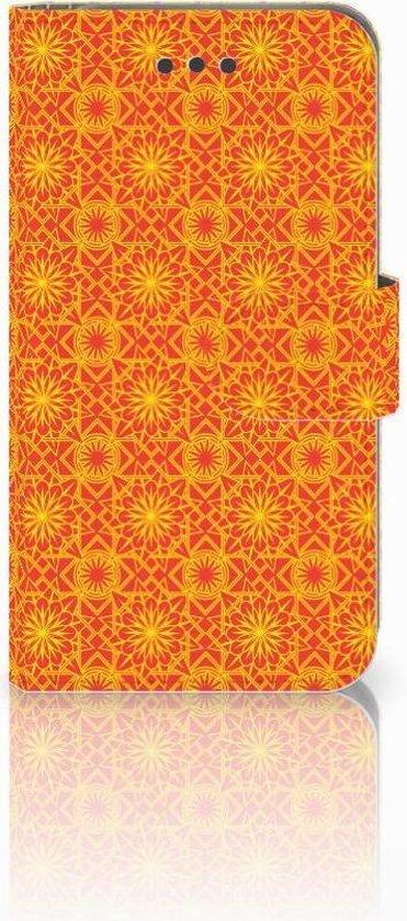iPhone 6 | 6s Book Case Hoesje Design Batik Orange