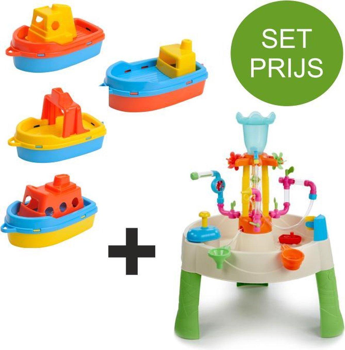 Little Tikes Watertafel Fountain Factory met 4 kunststof bootjes