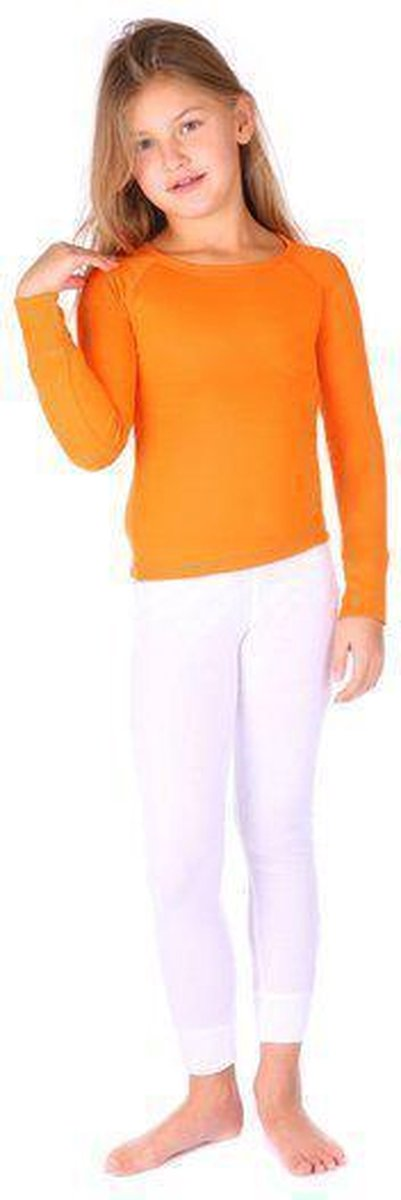 Thermo4sports - thermokleding - thermoset oranje - wit maat 128