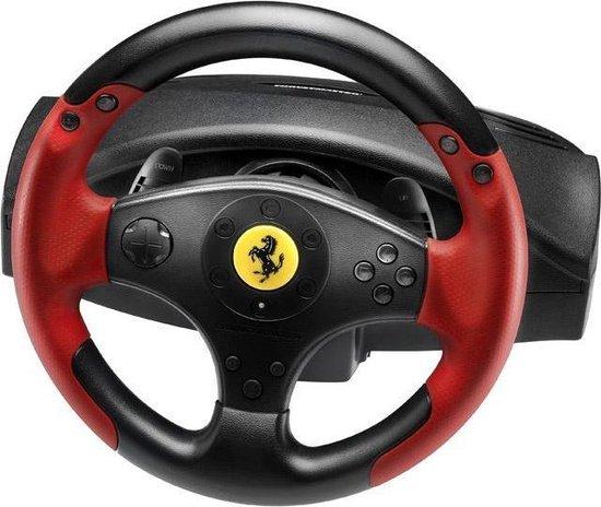 Afbeelding van Thrustmaster Ferrari Racing Wheel Red Legend PS3&PC Stuurwiel + pedalen PC,Playstation 3 Zwart, Rood