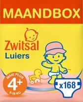 Zwitsal Luiers Maxi Plus Maat 4+ - 168 stuks - Voo