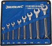 """Silverline 8-delige Whitworth steekringsleutel set 1/8"""" - 9/16"""""""