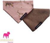 2 in 1 Slide -Over bandana | Hert maat Medium