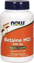 Now Foods, Betaine HCL, 648 mg, 120 capsules