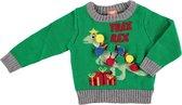 Groene baby kersttrui/foute kersttrui Tree-Rex  - Foute kersttruien jongens/meisjes - Kerst trui/sweater voor baby's 68/74 (6-12 mnd)