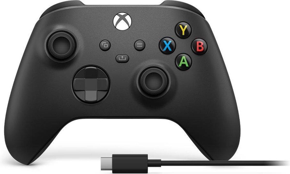 Xbox Draadloze Controller + kabel voor Windows 10 - Exclusief accu