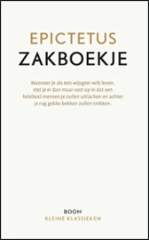Boek cover Zakboekje van Epiktetos (Paperback)